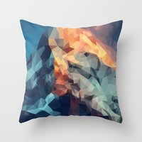 Mountain low poly Throw Pillow