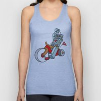 Hot Wheeling Robot Love Unisex Tank Top