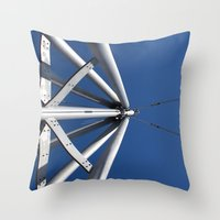 Sky and steel Throw Pillow