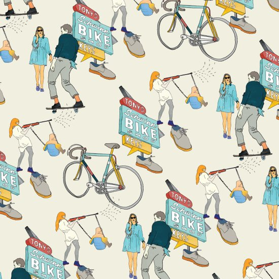 Tonys Bike Shop Art Print