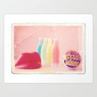 Retro Candy Art Print
