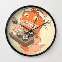 Sushi Fish 2 Wall Clock