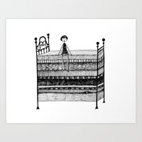 The Princess and the Pea Art Print
