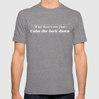 Why Don't We? Mens Fitted Tee Tri-Grey SMALL