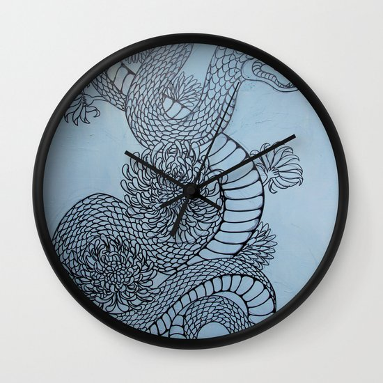 snake in the garden Wall Clock