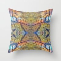 Labradorite Macro Throw Pillow