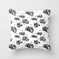 PG Cussin' Pattern Throw Pillow