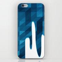 Polygon Drip Blue iPhone & iPod Skin