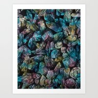 Crystal Points  Art Print