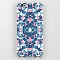 Abstract Collide Blue and Pink iPhone & iPod Skin