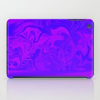 Purple And Pink Swirls  iPad Case
