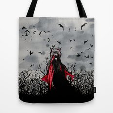 Red vs The Wolf Tote Bag
