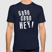 GBBO GBBO HEY Mens Fitted Tee Navy SMALL