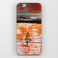Abstract rusty garage door detail iPhone & iPod Skin