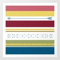 Arrows & Colours I Art Print