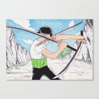 Zoro Ballpoint Pen Drawi… Canvas Print