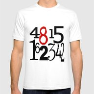 The Numbers In White Mens Fitted Tee White X-LARGE