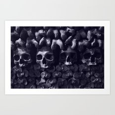 Skulls - Paris Catacombs, tinted version Art Print