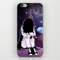 Gone away girl iPhone & iPod Skin