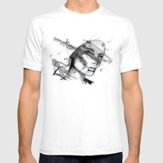 Miriam by carographic SMALL Mens Fitted Tee White