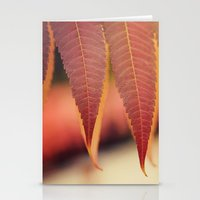 Fiery Fall Stationery Cards