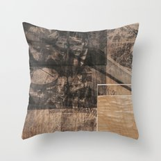 WOOD/ PAPER Throw Pillow