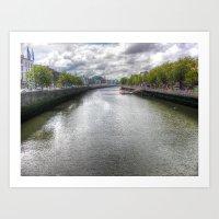 River Liffey Art Print