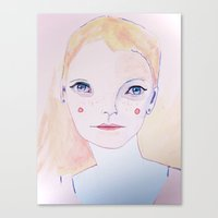 Mia Farrow Canvas Print