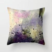 Abstract Mixed Media Design Throw Pillow