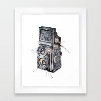 Camera Happy  Framed Art Print