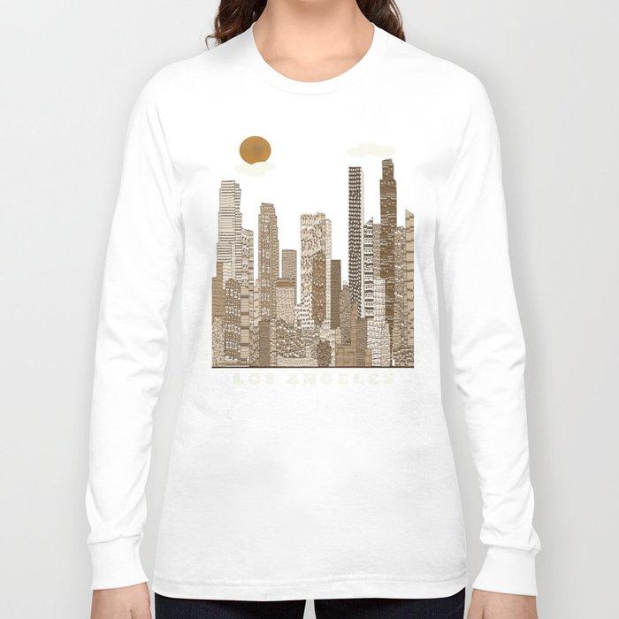 Los Angeles City Vintage Long Sleeve T Shirt By Bri