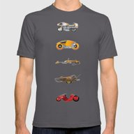 Sci-Fi Bikes: 1980's Mens Fitted Tee Asphalt SMALL