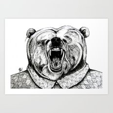 He was like a bear! Art Print