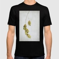 Simple Sea  Oats Mens Fitted Tee Black SMALL