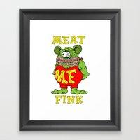 Meat Fink Framed Art Print