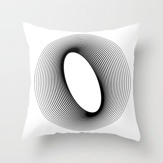 O like O Throw Pillow