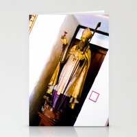 Religious statue. Stationery Cards