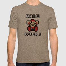 Game Over! Mens Fitted Tee Tri-Coffee SMALL