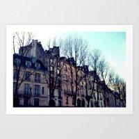 November in Paris Art Print