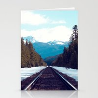 Train To Mountains Stationery Cards