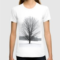 A Cold Winters Fog Womens Fitted Tee White SMALL