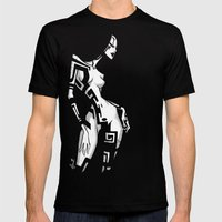 TATTOO GIRL TWO Mens Fitted Tee Black SMALL