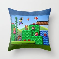 Super Mario 2 Throw Pillow