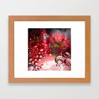 inflorescence beads Framed Art Print