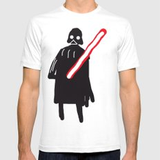 you are drawing vader White SMALL Mens Fitted Tee