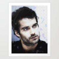 Painting of Henry Cavill Art Print