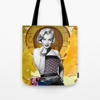 Golden Marilyn Monroe  B… Tote Bag
