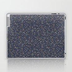 Speckles I: Dark Gold & Snow on Blue Vortex Laptop & iPad Skin