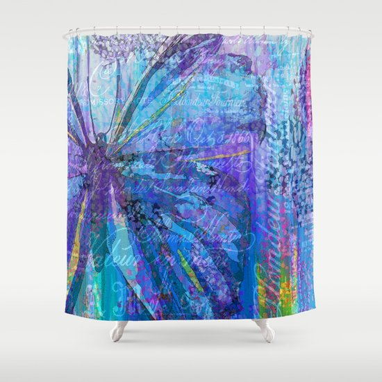 butterfly shower curtain by saundra myles society6