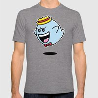 Super Cereal Ghost Mens Fitted Tee Tri-Grey SMALL